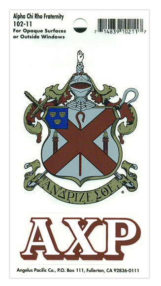 Alpha Chi Rho Crest Decal