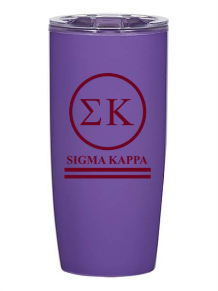Sigma Kappa Circle Stripes 19 oz Everest Tumbler