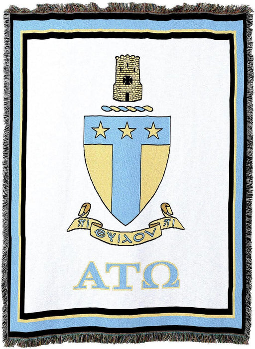 Alpha Tau Omega Afghan Blanket Throw