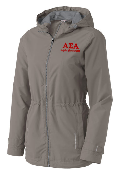 Alpha Sigma Alpha Embroidered Ladies Northwest Slicker