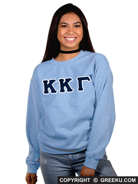 Kappa Kappa Gamma Classic Colors Sewn-On Letter Crewneck