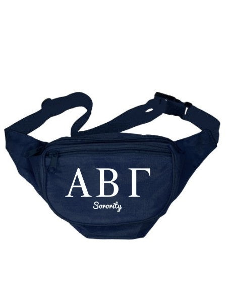 Sorority Collegiate Cursive Fanny Pack