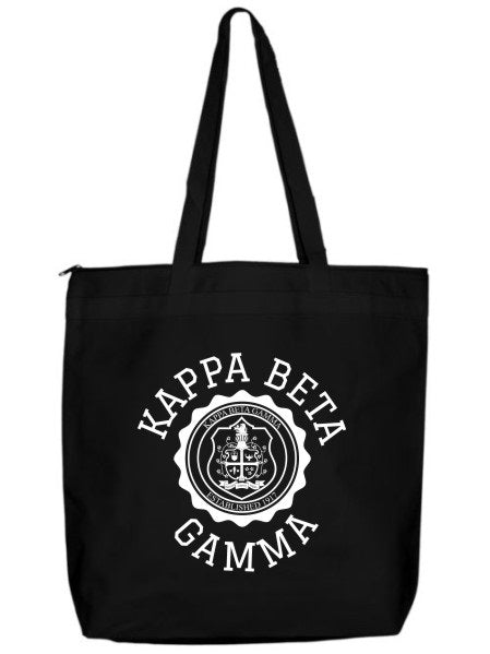 Kappa Beta Gamma Crest Seal Tote Bag