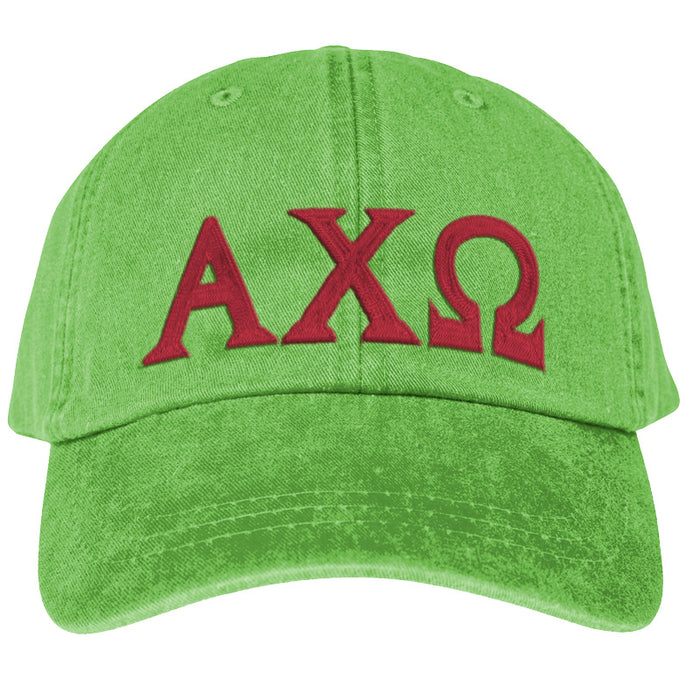 Alpha Chi Omega Greek Letter Embroidered Hat