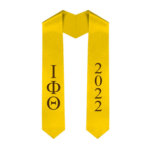 Iota Phi Theta Vertical Grad Stole with Letters & Year