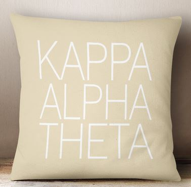 Kappa Alpha Theta Simple Text Throw Pillow