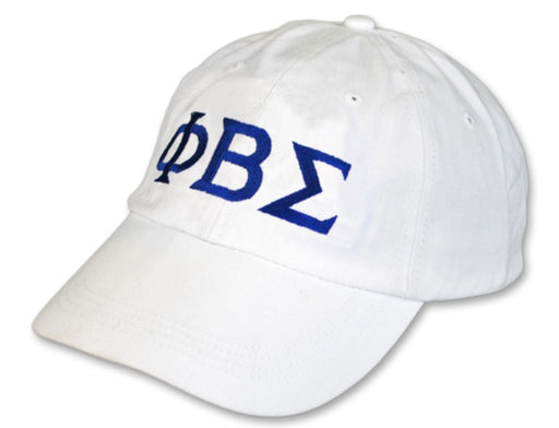 Phi Beta Sigma Greek Letter Embroidered Hat