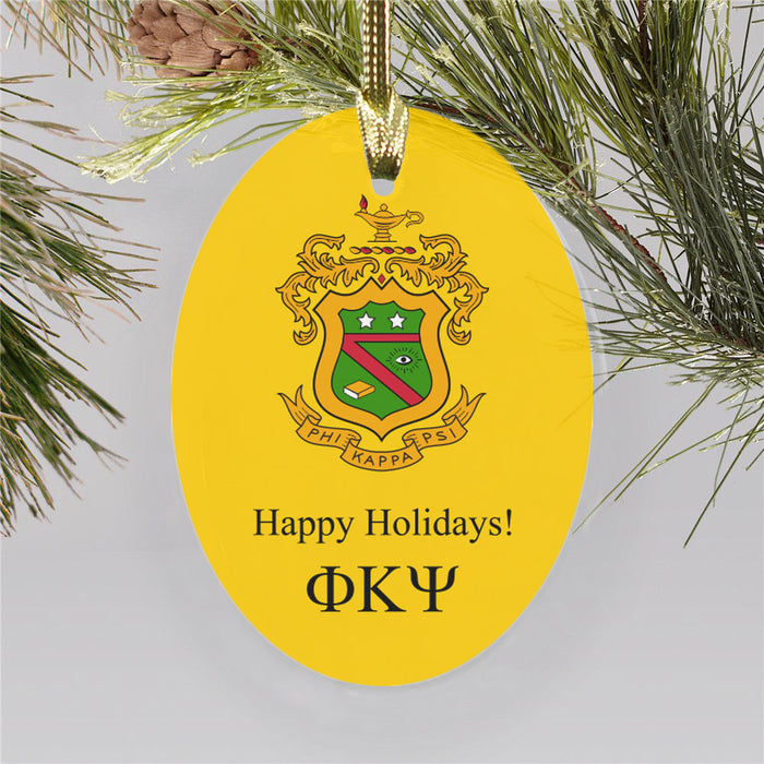 Phi Kappa Psi Color Crest Ornament