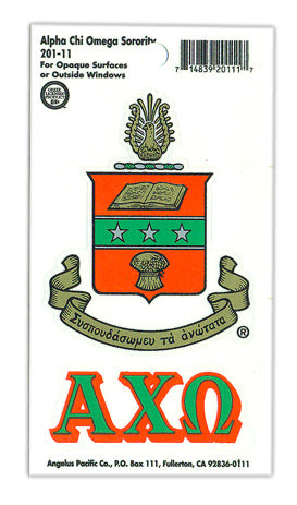 Alpha Chi Omega Crest Decals Crest Decal