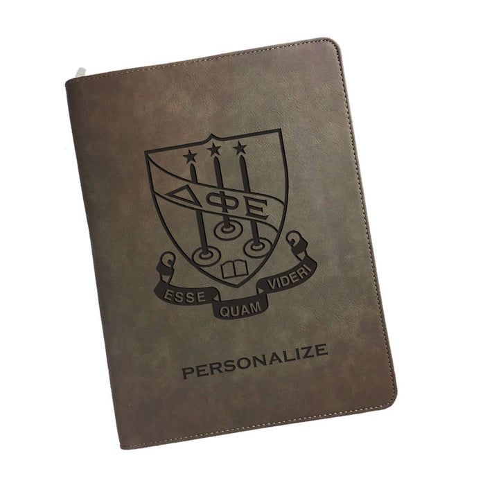Delta Phi Epsilon Leatherette Portfolio with Notepad