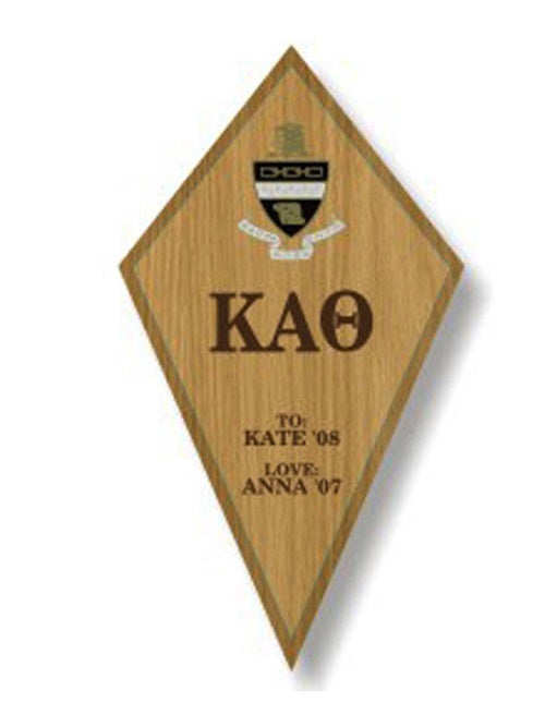 Kappa Alpha Theta Sorority Plaque