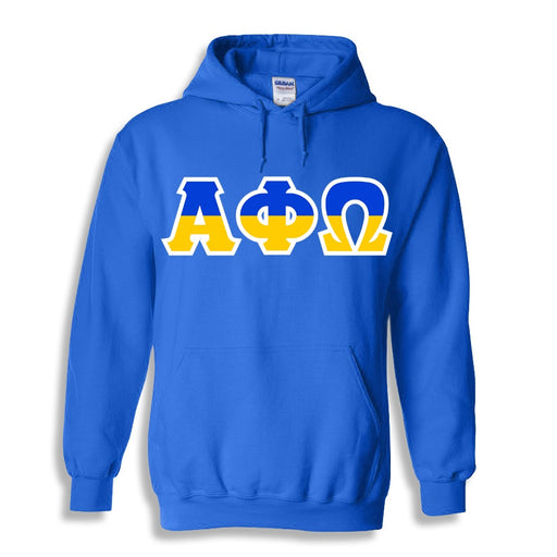 Alpha Phi Omega Two Toned Lettered Hooded Sweatshirt