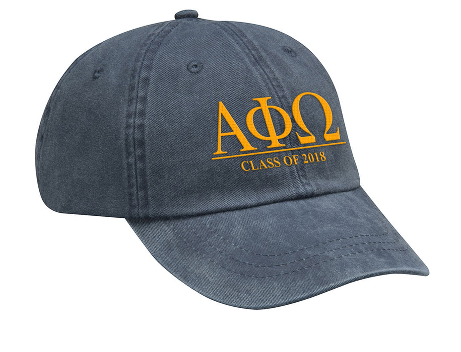 Alpha Phi Omega Embroidered Hat with Custom Text