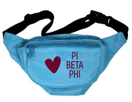 Pi Beta Phi Heart Fanny Pack