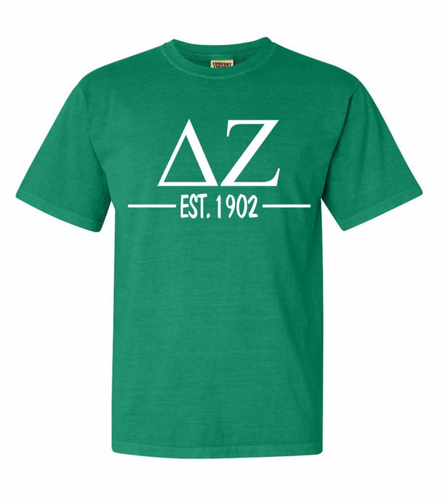 Delta Zeta Comfort Colors Established Sorority T-Shirt