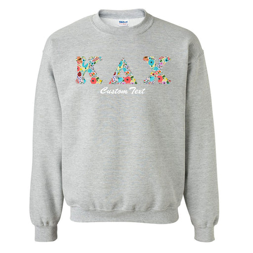 Kappa Delta Chi Crewneck Letters Sweatshirt with Custom Embroidery