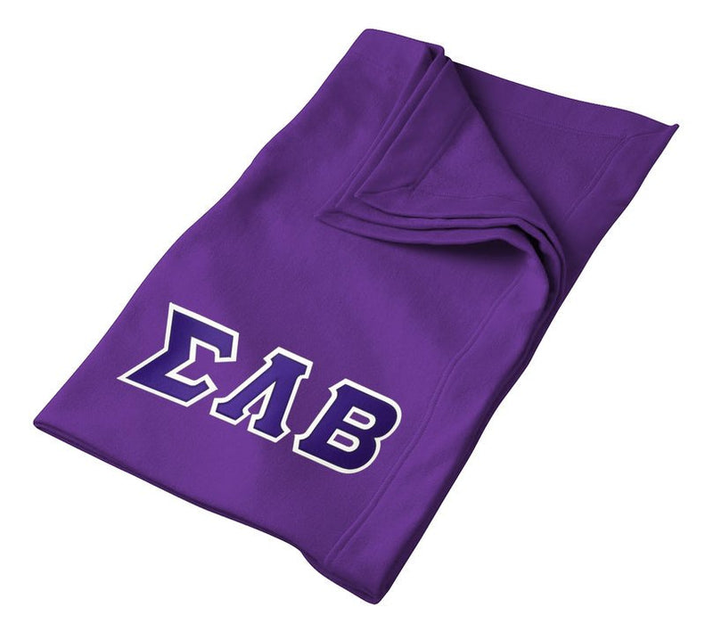 Sigma Lambda Beta Greek Twill Lettered Sweatshirt Blanket
