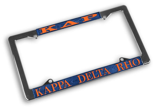 Kappa Delta Rho License Plate Frame