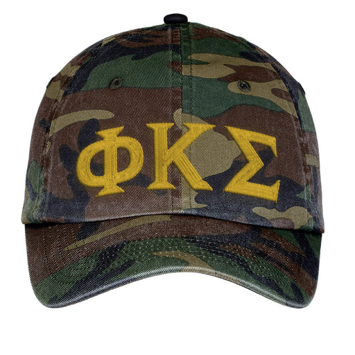 Phi Kappa Sigma Letters Embroidered Camouflage Hat