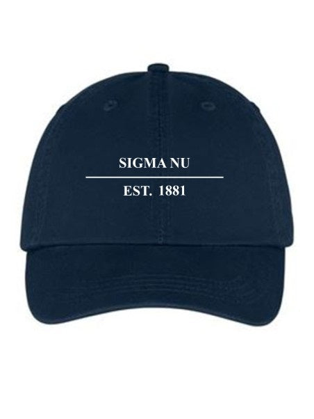 Sigma Nu Line Year Embroidered Hat