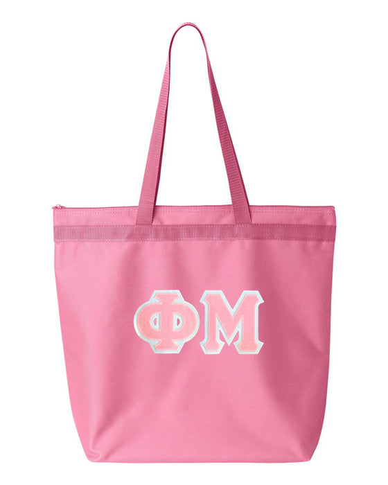 Phi Mu Greek Lettered Game Day Tote