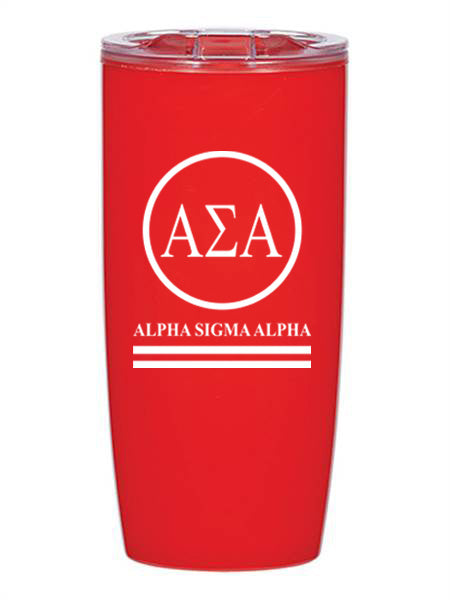 Alpha Sigma Alpha Circle Stripes 19 oz Everest Tumbler