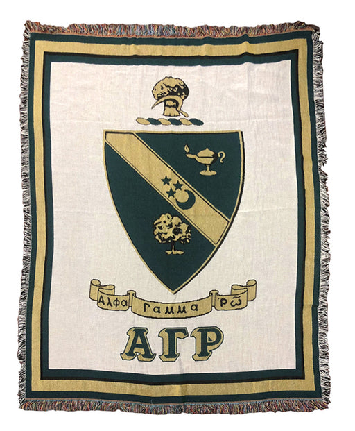 Alpha Gamma Rho Afghan Blanket Throw