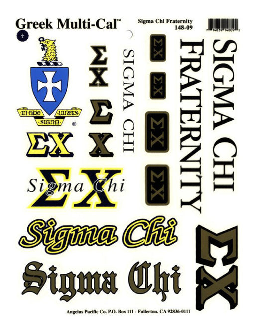 Sorority Multi Greek Decal Sticker Sheet