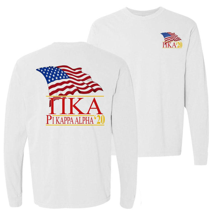 Pi Kappa Alpha Patriot Flag Comfort Colors Long Tee