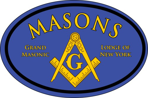 Masonic Color Oval Decal