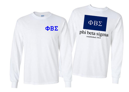 Phi Beta Sigma Long Sleeve Flag Tee