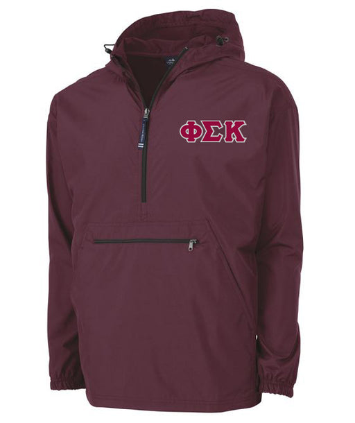 Phi Sigma Kappa Embroidered Pack and Go Pullover