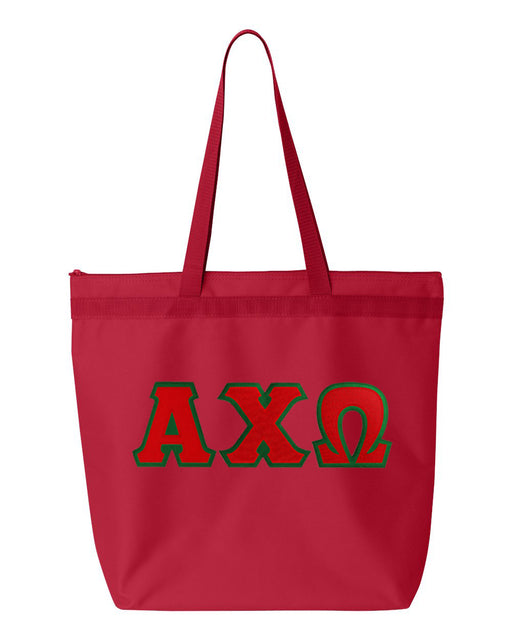 Greek Lettered Game Day Tote