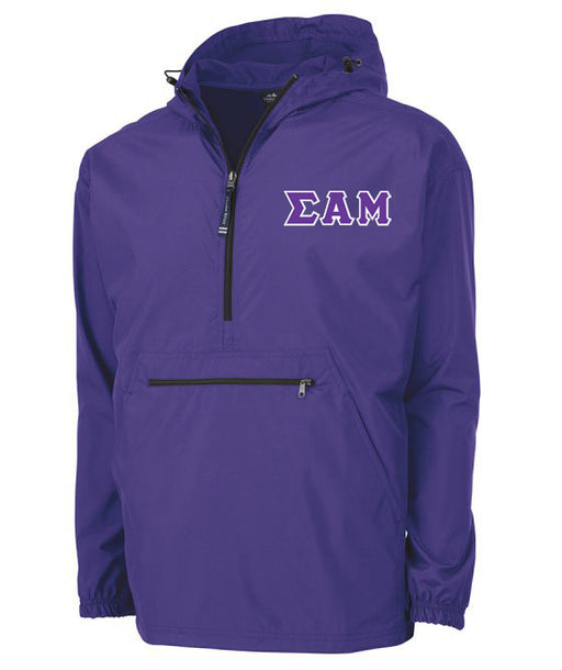 Sigma Alpha Mu Embroidered Pack and Go Pullover
