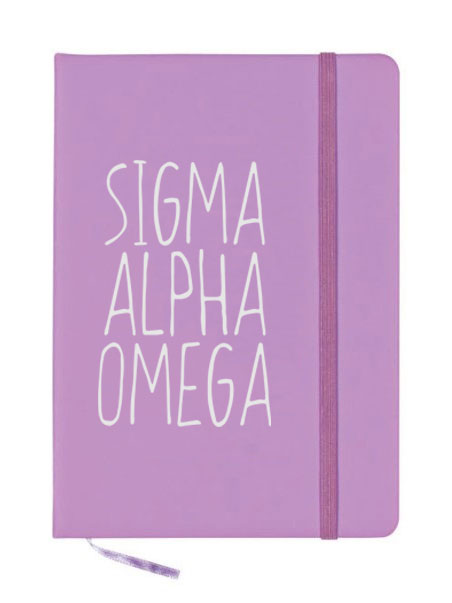 Sigma Alpha Omega Mountain Notebook