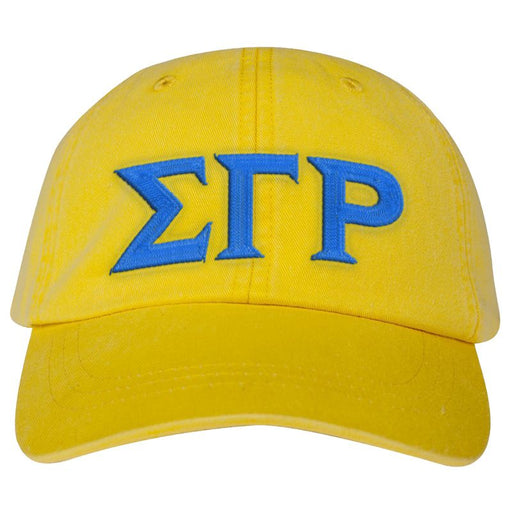 Sigma Gamma Rho Greek Letter Embroidered Hat