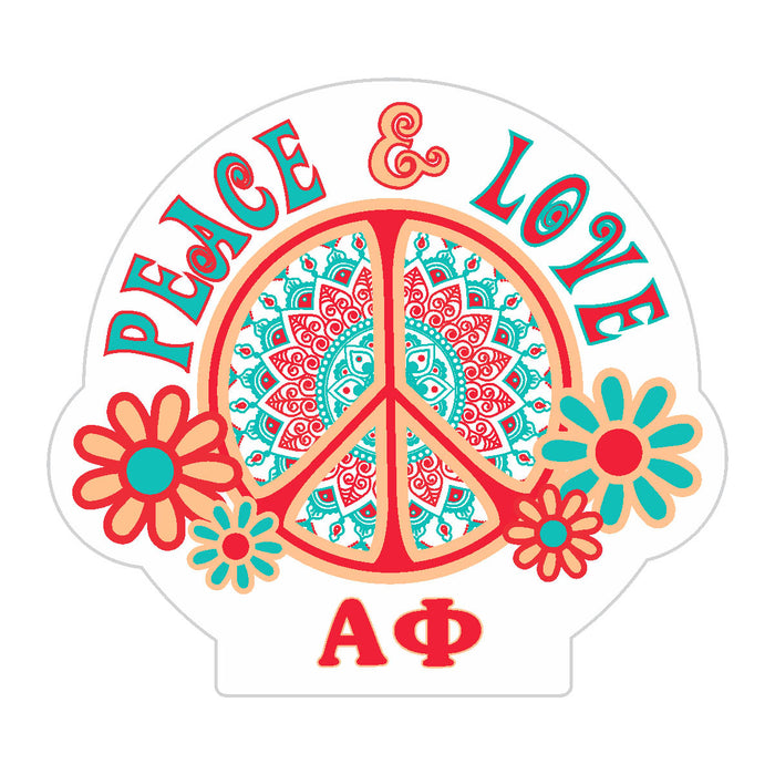 Alpha Phi Peace Sticker