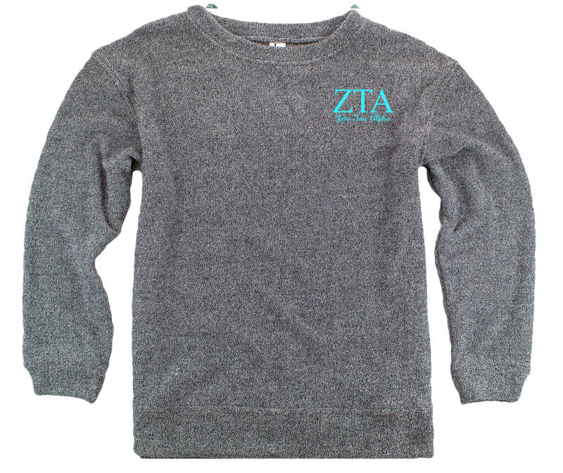 Zeta Tau Alpha Lettered Cozy Sweater
