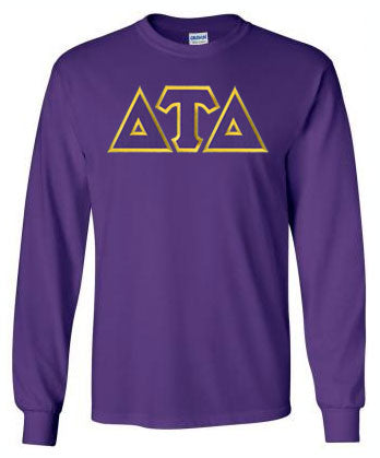 Delta Tau Delta Long Sleeve Greek Lettered Tee