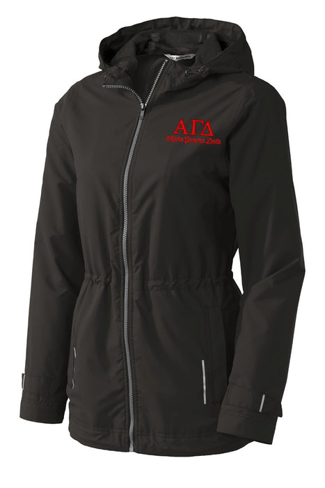 Alpha Gamma Delta Embroidered Ladies Northwest Slicker
