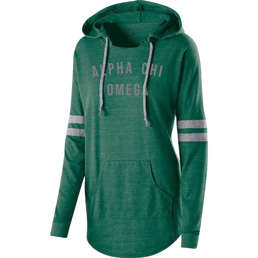 Alpha Chi Omega Hooded Low Key Pullover