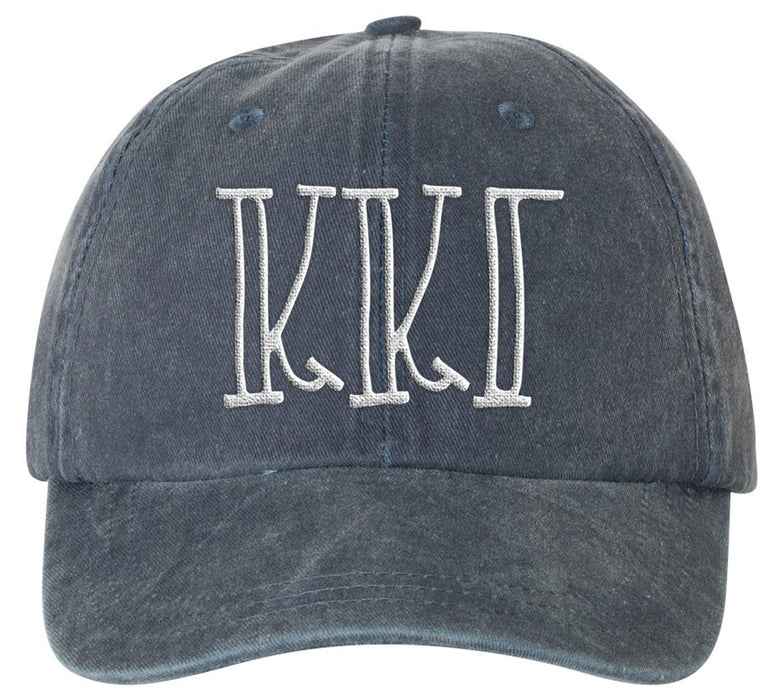 Kappa Kappa Gamma Sorority Greek Carson Embroidered Hat
