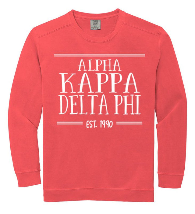 Alpha Kappa Delta Phi Comfort Colors Custom Sorority Sweatshirt