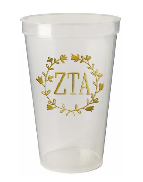 Zeta Tau Alpha Wreath Giant Plastic Cup