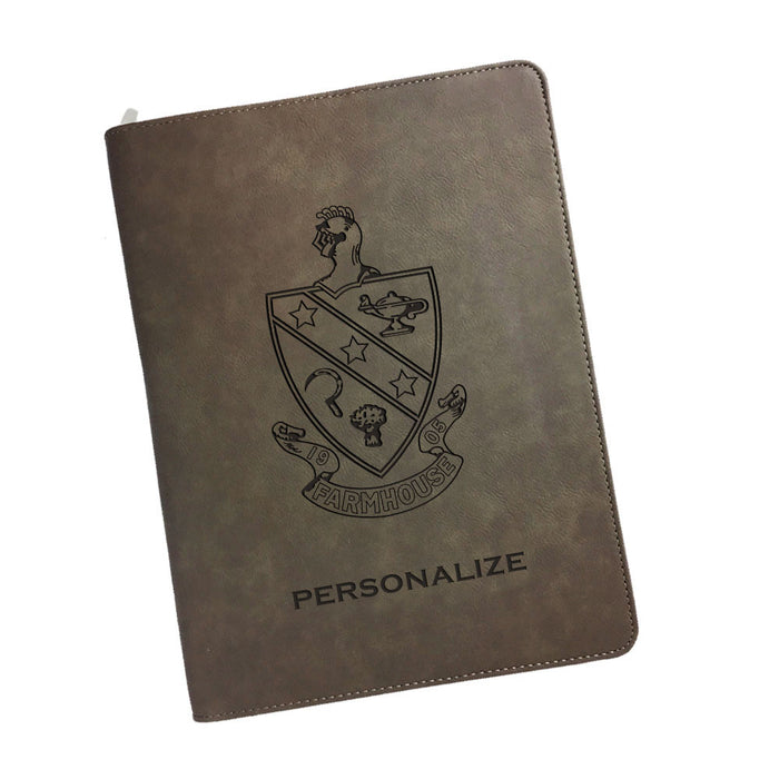 Farmhouse Leatherette Portfolio with Notepad