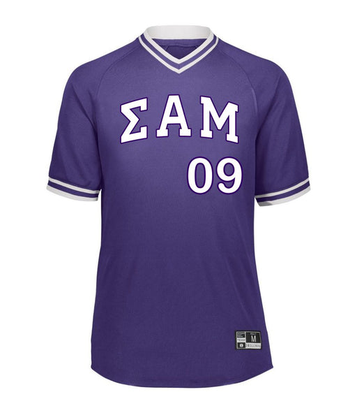 Sigma Alpha Mu Retro V-Neck Baseball Jersey