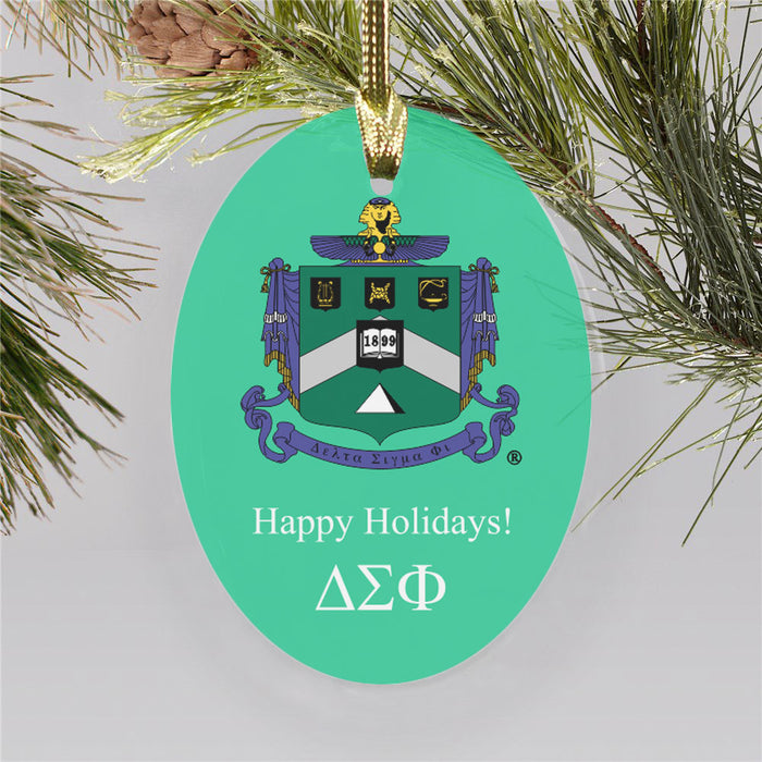 Delta Sigma Phi Color Crest Ornament