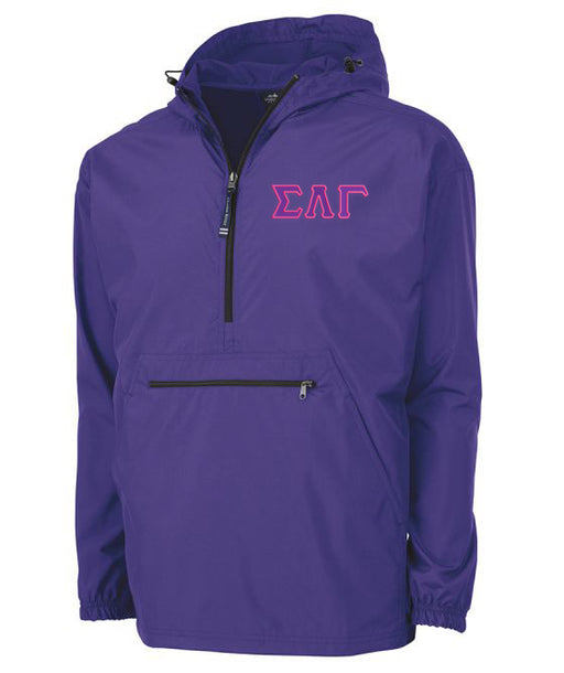 Sigma Lambda Gamma Embroidered Pack and Go Pullover