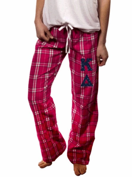 Kappa Delta Pajama Pants with Sewn-On Letters