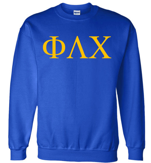 Phi Lambda Chi World Famous Lettered Crewneck Sweatshirt